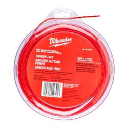 Milwaukee Trimmer-Faden 4916271 Ersatz-Schneidfaden, Rasentrimmer Zubehör 2/2,4mm - Größe:2.0 mm x 45 m