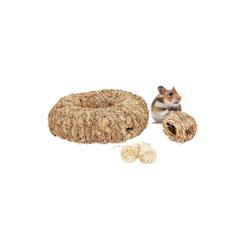 relaxdays Kleintierklettergerüst Hamster Zubehör Set 5 tlg.