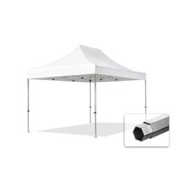 Toolport Faltpavillon 3x4,5m Long-Life PVC 620 g/m² weiß wasserdicht Faltzelt, Klappzelt