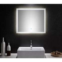 Badmöbel Set Carpo 70 S mit LED Spiegel, weiss hochglanz