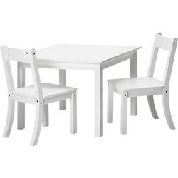 Kindersitzgruppe Bueno 3-tlg.,weiß, MDF