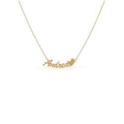 Firetti Kette mit Anhänger Namenskette mit Taube, individuell zu gestalten