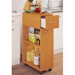 VCM Küchenwagen Nische Küchenwagen Tusal mit Schublade braun