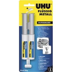 UHU Flüssigmetall Zwei-Komponentenkleber 45960 24ml