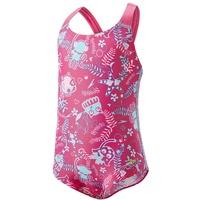Speedo Seasquad Allover Swimsuit Mädchen pink/pink Splash/Bali blue 98