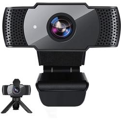 IVSO Webcam mit Mikrofon für Desktop,1080P HD USB Computerkameras mit Sichtschutz und Webcam-Stativ, Webcam (1920 X 1080P, Streaming Webcam with Wide Angle Webcam for Conference/Gaming/Calling/Zoom)