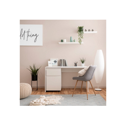 Homestyle4u Schreibtisch, mit Rollcontainer