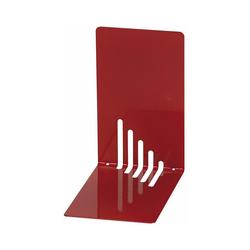 WEDO Buchstütze Buchstützen Metall 14 x 8,5 x 14 cm weiß, 2 Stück rot