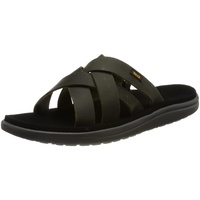 TEVA Voya Slide Leather Männer - Outdoor Sandalen - oliv-dunkelgrün