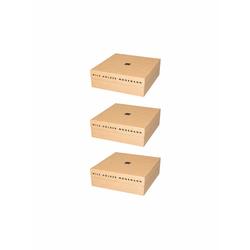 Nils Holger Moormann Archivbox für FNP Regal – klein beige, Designer Nils Holger Moormann, 10.8x32.5x34 cm