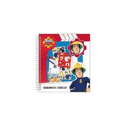 UNDERCOVER Malvorlage Schablonen Set - Feuerwehrmann Sam