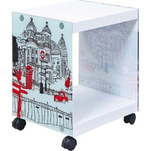 INOSIGN Beistelltisch Cube mit gestalteten Glasseiten