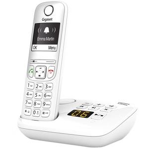 Gigaset AS690A, Schnurloses Telefon mit Anrufbeantworter - großes, kontrastreiches Display, brillante Audioqualität, einstellbare Klangprofile, Freisprechfunktion - Anrufschutz, weiß
