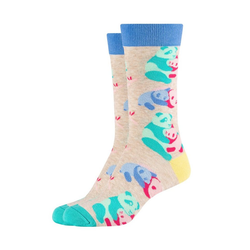Fun Socks Socken Panda (2-Paar) mit bunten Pandabären