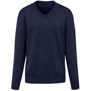 V-Pullover aus 100% Premium-Kaschmir Peter Hahn Cashmere blau