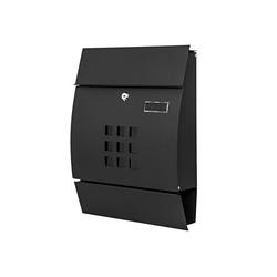 MCW Briefkasten MCW-B32, Zylinderschloss, Inkl. 2 Schlüsseln und Montagematerial schwarz