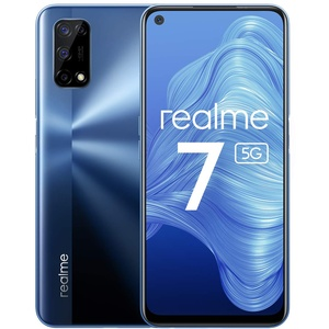 realme 7 5G, Baltic Blue, 6+128GB, 120Hz Display Ultra Smooth Display, 6,5 Zoll Display,48 MP Quad Kamera, Ausdauernder 5000-mAh-Akku, 30W Dart Charge,EU Plug.