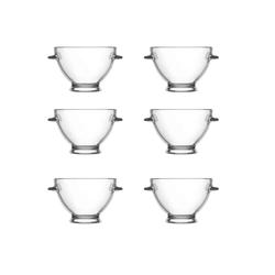 LAV Dessertschale Glasschalen-Set Glasschale Dessertschale Serie, Glas, (6-tlg)