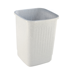 Bekaform Papierkorb, 12 Liter, granit, Quadratischer Mülleimer aus Kunststoff, Farbe: granit, Volumen: 12 Liter