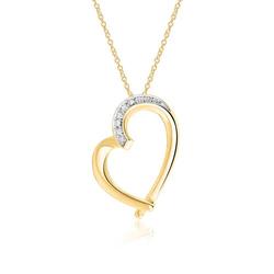 Halskette Herz aus 585er Gold mit Diamanten