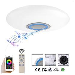 style home Deckenleuchten, LED RGB Deckenleuchte Deckenlampe mit Bluetooth Lautsprecher voll dimmbar blau Ø 58.3 cm - Ø 583 cm x 11.5 cm
