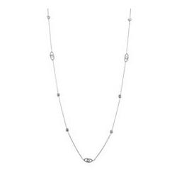 Zirkon Collier zus. ca. 3,89ct Länge ca. 70 cm Silber 925