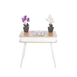 Schminktisch mit Spiegel natur-weiß Aufbewahrung Design Möbel LED-Spiegel