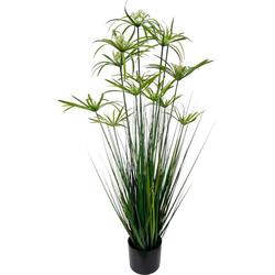 Kunstpflanze Zyperngras im Topf, I.GE.A., Höhe 120 cm 35 cm x 120 cm x 35 cm
