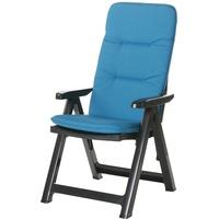 BEST Freizeitmöbel Santiago Klappsessel 61 x 72 x 110 cm blau/anthrazit