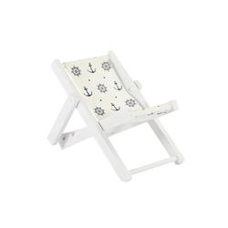Mini Liegestuhl Stuhl Klappstuhl Maritime Tisch Deko Sommer Strand Dekoration - Anker