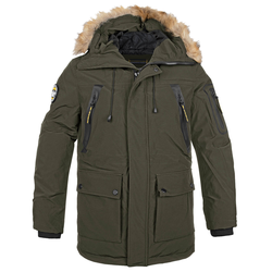 Poolman Winter Parka Creston oliv, Größe XL