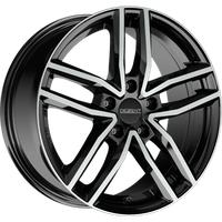 DEZENT TR black polished 6.5x16 ET40 - LK5/114.3 ML71.6 Alufelge schwarz