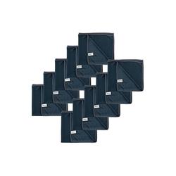 Kochblume Geschirrtuch Poliertuch 50 x 60 cm, (Spar-Set, 10-tlg), 280g/qm Qualtität grau