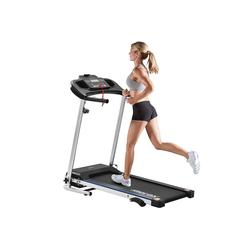 Gotui Laufband, Laufband Speedrunner elektrisch klappbar 12 km/h, 12 automatische Programme sowie 3 Steigungsstufen, LCD Display