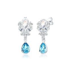 Elli Paar Ohrhänger Ohrhänger Royal Kristalle 925er Silber