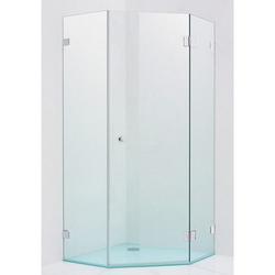 Sprinz XXL Fünfeck-Duschkabine mit Schwingtür und 2 Festteilen