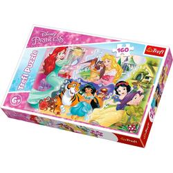 Trefl Puzzle Puzzle 160 Teile - Disney Princess, Puzzleteile