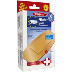 WUNDmed® Wundversorgung Euro-Pflaster, Mikroperforierte Wund-Pflaster ideal für die Versorgung kleinerer Wunden, 1 Packung = 6 Stück, 50 x 100 mm
