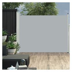 vidaXL Sonnenschirm vidaXL Ausziehbare Seitenmarkise 170×500 cm Grau