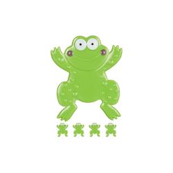 relaxdays Antirutsch-Aufkleber Badesticker Frosch im 5er Set, B: 12 cm, L: 0.3 cm