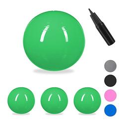4 x Gymnastikball 75 cm, Sitzball grün Büro Yogaball groß Ball Schwangerschaft