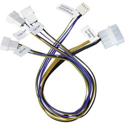 Akasa PC-Lüfter Anschlusskabel [3x PC-Lüfter Stecker 3pol., PC-Lüfter Stecker 4pol. - 1x IDE-Stro