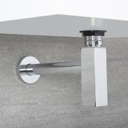 Siphon für Waschbecken Eckiges Design, von Hudson Reed
