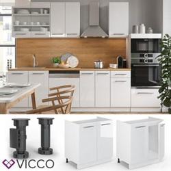 VICCO Spülenunterschrank 80 cm Weiß Küchenzeile Unterschrank Fame