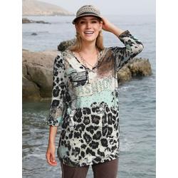 Shirt MIAMODA Beige/Braun/Mintgrün