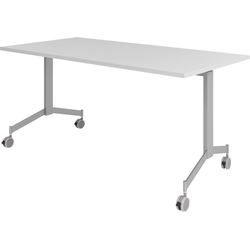 bümö Klapptisch OM-KF16, Konferenztisch fahrbar & klappbar Staffeltisch - Dekor: Grau grau