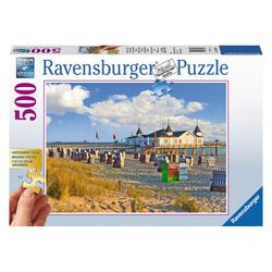 Ravensburger Puzzle Strandkörbe In Ahlbeck, 500 Puzzleteile bunt