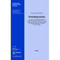 Preisabsprachen als Buch von Julia Sagmeister