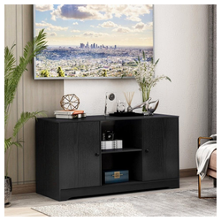 TOPMELON TV-Bank TV-Ständer aus Holz Medienständer für Fernseher, 108 x 39 x 57cm