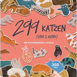 299 Katzen (und 1 Hund). Puzzle 300 Teile